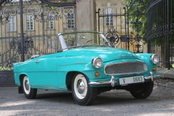 Oblíben jak u diváků, tak u jezdců – ŠKODA 1101 Roadster, známější pod jménem Tudor, z roku 1948, upoutá pozornost svými tvary. Foto: ŠKODA AUTO