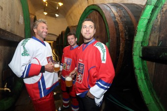 Hokejové trio - Tlustý, Pavelec, Nedvěd