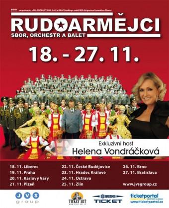 Rudoarmějci poprvé v České republice