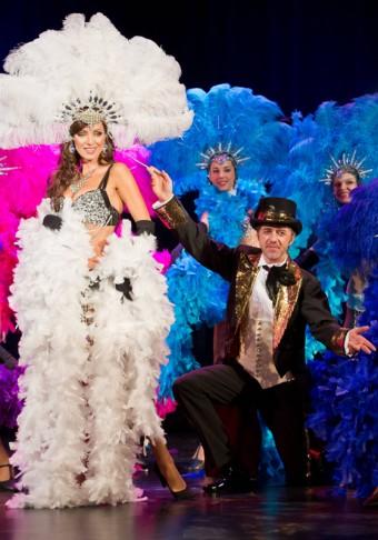 Jiří Langmajer a Kateřina Brožová jako Mata Hari při premiéře muzikálu