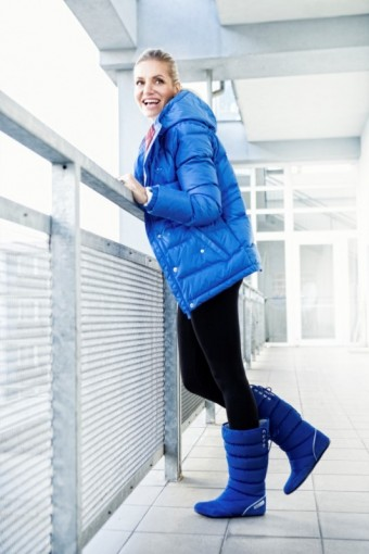 Proti zimě se Dara vybavila bundou adidas Premium Down a kozačkami North