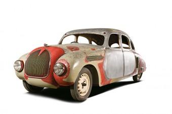 ŠKODA 935: Poslední dochovaný exemplář aerodynamického vozu z roku 1935. Po výstavě bude následovat lakování karoserie. Foto: ŠKODA AUTO